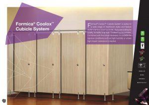 Hệ thống vách ngăn vệ sinh Formica Coolox